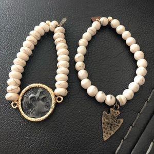 Set of two love poppy bracelets